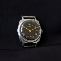 Vintage Black POBEDA Men Formal USSR Watch ZIM Russia Mechanical Glistering Rare