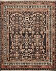 Vintage Geometric Hand Knotted Area Rug Traditional Oriental Tribal Carpet 4x5