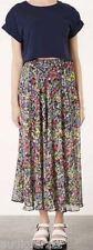 P3,645 TOPSHOP Dot Floral Maxi Chiffon Skirt US 2 UK 6 Side Slit