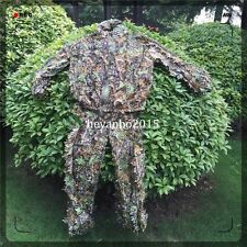 Realtree Camo outdoor Military Hunting Leaf Net Ghillie Suit Jacket And Trousers
