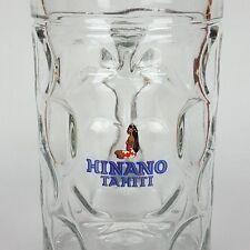 Hinano Tahiti Polynesian Girl Logo Large 1 Liter Glass Beer Stein Tankard Mug