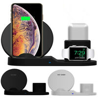 Bakeey 3 in 1 Fast QI Wireless Charger Stand Dock For iPhone 8 X XS Watch iwatch