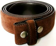 Belt for Buckle Dark Brown Suede Size S to XL