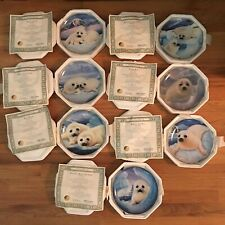 New Listing(7) Franklin Mint Seal Pup Collector Plates Le by Mike Wepplo/Us Humane Society