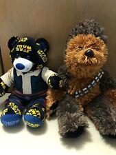 Build-A-Bear Workshop Star Wars Stuffed Animal Print Teddy Bear & Chewbacca. /Pg