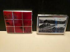 Vintage Red Cigarette Case Ornate & New Trout Case