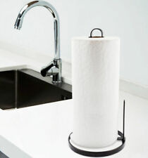 Kitchen Counter Metal Paper Holder Towel Stand Rack Roll Dispenser Organizer
