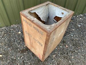 Wooden tea chest shipping crate  'PWAZI RIVER' S1E010521B
