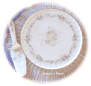 Mikasa FOREVER LOVE China Plate With Server Wedding Bells Anniversary Mint Cond