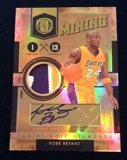 KOBE BRYANT Autograph 10/11 gold standard Gold Mining 3 Color Prime Patch #05/24
