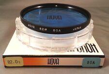 82mm Hoya 80A 80-A 80 A Light Balancing Blue Color Glass Lens Filter 82 mm Japan