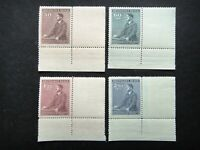 Germany Nazi 1942 Stamps MNH Adolf Hitler 53th birthday WWII B&M Third Reich Ger