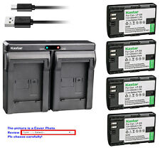 Kastar Battery Slim Dual Charger for Canon LP-E6 & Canon EOS 7D SV Canon Grip