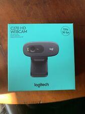 Logitech C270 HD Webcam 720p Black Video Web Cam   In Hand   Fast Shipping