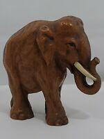 "VTG c1950-1960's Heavy Elephant Figurine/Statue  Hand Painted H=5.5"""