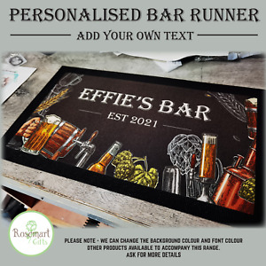 Personalised Welcome Lager Beer Text Bar Runner Pub Club Cafe Cocktail Mat
