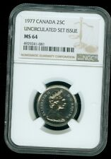 1977 CANADA 25 CENTS NGC MS64  ***