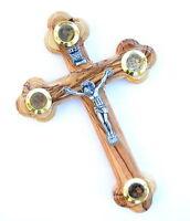 Wall Olive Wood Cross Crucifix Jerusalem holy land