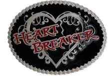 Montana Silversmiths Heart Breaker Attitude Belt  Buckle Womans Small Oval