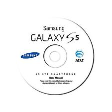 User Manual for Samsung Galaxy S5 Smart Phone (Model SM-G900A) for AT&T on CD