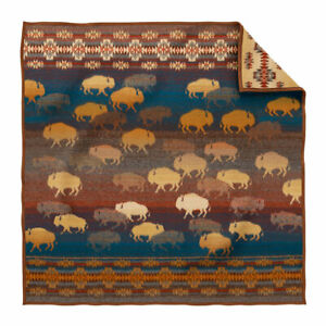 NEW  UNUSED Pendleton Prairie Rush Hour Wool Throw, One Size