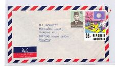 BQ290 Asia 1974 Indonesia Commercial Airmail Cover OIL CONTROL CENTRE {samwells}
