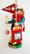 "Steinbach Nutcracker Germany ""Coca Cola Collector Fan"" S 969 w Hang Tag  and Box"