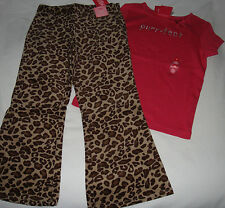 Gymboree Teacher's Pet pink rhinestone PURRFECT top & leopard pants NWT 4 4T