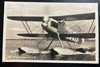 1941 Hersfeld Fieldpost Germany RPPC Postcard cover to Offenbach Seaplane