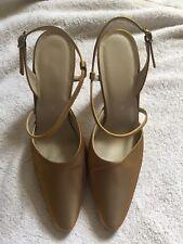 Nine West Evening Shoe High Heels Gold Strappy Metallic Uk 5