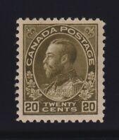 Canada Sc #119b (1925) 20c Sage Green Admiral Mint VF
