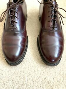 Men's ALDEN USA Derby Shoes Penny Loafers Oxfords Brogues SZ US 7.5 B/D UK 7