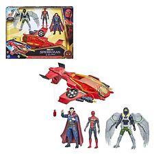 personaggio spiderman action figure con aereo jet per bambini avengers marvel