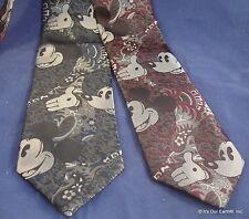 Stunning (2) VTG Mickey Mouse Disney Burgundy Grey Cervantes Men's Neckties EX