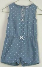 Carter's One Piece Romper Outfit Toddler Girls 24 Mon Blue w/ White Polk-a-Dot B
