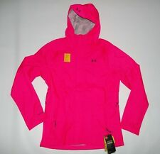Under Armour Waterproof UA Storm Surge Pink Hooded Jacket Womens Medium