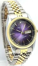 Swanson Men Two-tone Violet Dial, 1 Sapphire-Crystal, Dress Watch