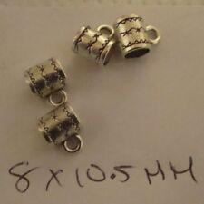 50 bolas de plata tibetana tamaño 8 X 10.5 orificios 4 mm (número de línea de separación 09