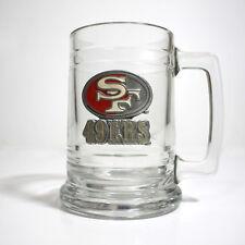 Vintage NFL San Francisco 49ers Football Glass Mug Beer