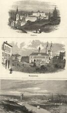 GERMANY. Madrid; Magdeburg; Manchester- from the North- West 1870 old print