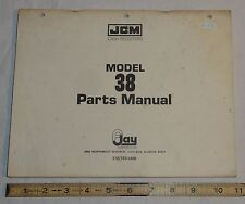 Original Vintage F Jay Corporation JCM Model 38 Cash Register Parts Manual Book