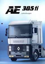 Renault AE 385 ti Lastkraftwagen Prospekt 1992 3/92 brochure prospectus camion