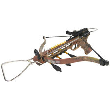 80 lb Aluminum Camo Pistol Hunting Crossbow Bow +15 Arrows +2 Strings 150 50 lbs