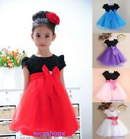 GIRLS Flower Formal Bridesmaid Party Princess Prom Wedding Christening Dress