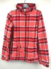 O'Neill Women's Orange Plaid Spring Hooded Jacket Size XS