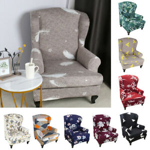Floral Wingback Slipcover Stretch Wing Chair Armchair Slip Cover Couch protector