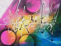 Tableau abstrait contemporain 60 x 80 cm. Œuvre originale de Audrey Granjeaud.