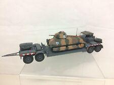 Wehrmacht Anhänger mit Beutepanzer Somua Maßstab 1:43 Die-Cast Metall