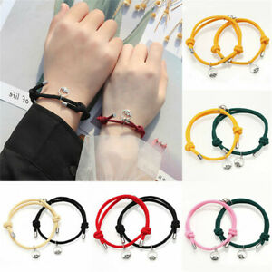 2Pcs Couple Bracelet Love Friendship Rope-Braided Fashion Magnetic Bracelets UK