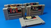 Super Nintendo SNES 5 Game Lot Home Alone,Battleship & More Tested